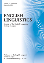 English Linguistics, Volume 35, Number 1