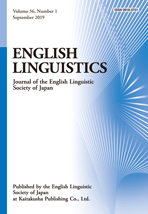 ENGLISH LINGUISTICS Vol. 36 No. 1