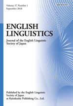 ENGLISH LINGUISTICS Vol. 37 No. 1